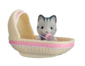 Sylvanian Family Baby Carry Case with Cradle - Cat