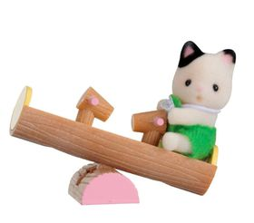 Sylvanian Family Baby Carry Case with See-Saw - Cat