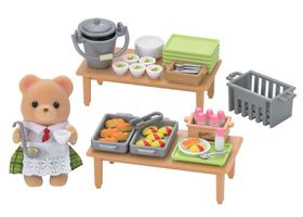 Sylvanian Family School Lunch Set