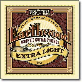 Ernie Ball 2006 Earthwood Extra Light 80/20 Bronze Acoustic String Set (10 - 50)