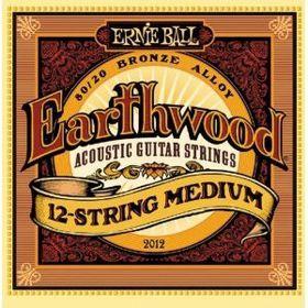Ernie Ball 2012 Earthwood 12-String Medium 80/20 Bronze Acoustic String Set (11 - 52)