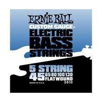 Ernie Ball 2810 Flatwound 5-string Bass Set (45 - 130)