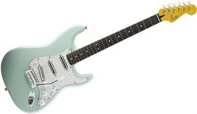 Squier by Fender Vintage Modified Stratocaster Surf Electric Guitar Rosewood Fretboard - Surf Green