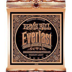 Ernie Ball 2546 Everlast Acoustic Guitar Strings Phosphor Bronze - Medium Light (12 - 54)
