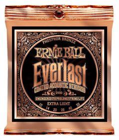 Ernie Ball 2550 Everlast Acoustic Guitar Strings Phosphor Bronze - Light (10 - 50)