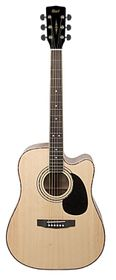 Cort AD880CE NS Acoustic Electric Guitar - Dreadnought W/Bag - Natural Satin