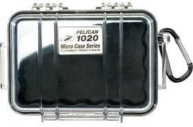Pelican 1020 Micro Clear Case - Black