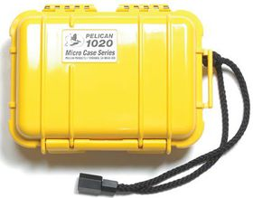 Pelican 1020 Micro Solid Case - Yellow