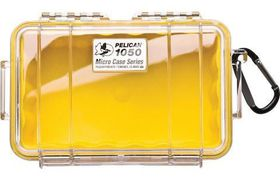 Pelican 1050 Clear Case - Yellow