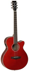 Tanglewood TSF CE R Evolution Acoustic Electric Guitar - Red