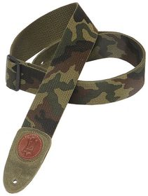 "Levy LLMSSC8CAM MSSC8 2"" Signature Series Cotton Guitar Strap - Camo"