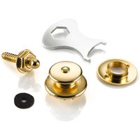 Loxx LX49000 Gold Plated Strap Lock System for Electric & Bass Guitars