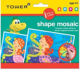 Tower Kids Shape Mosaic - Mermaid
