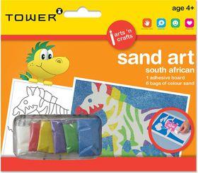 Tower Kids Sand Art South African - Zebra