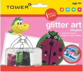 Tower Kids Glitter Art Shaped - Ladybug