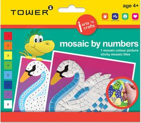 Tower Kids Mosaic by Numbers - Swan