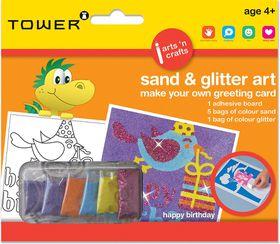 Tower Kids Sand & Glitter Art Greeting Card - Happy B'day (Girl)
