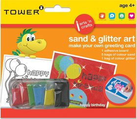 Tower Kids Sand & Glitter Art Greeting Card - Happy B'day (Boy)