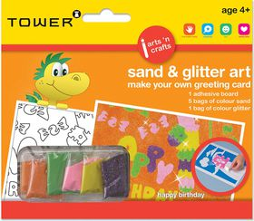 Tower Kids Sand & Glitter Art Greeting Card - Happy B'day (General)