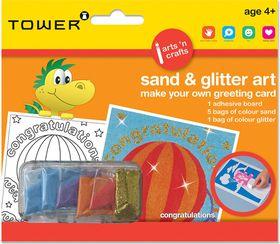 Tower Kids Sand & Glitter Art Greeting Card - Congratulations