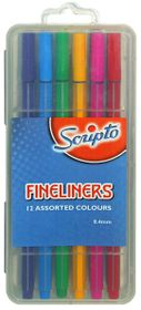 Scripto Fineliners (Box of 12 Colours)