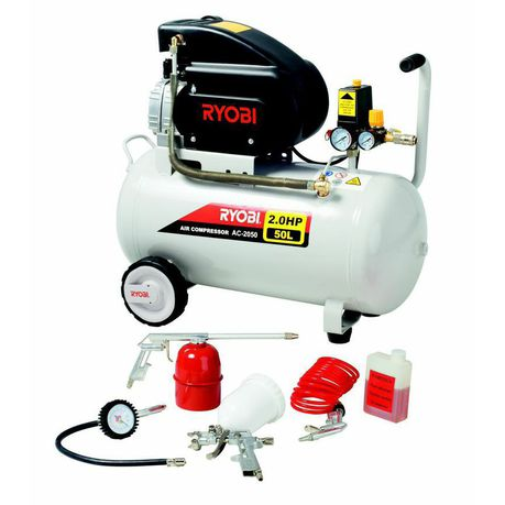 Ryobi - Air Compressor With Spray Gun Kit
