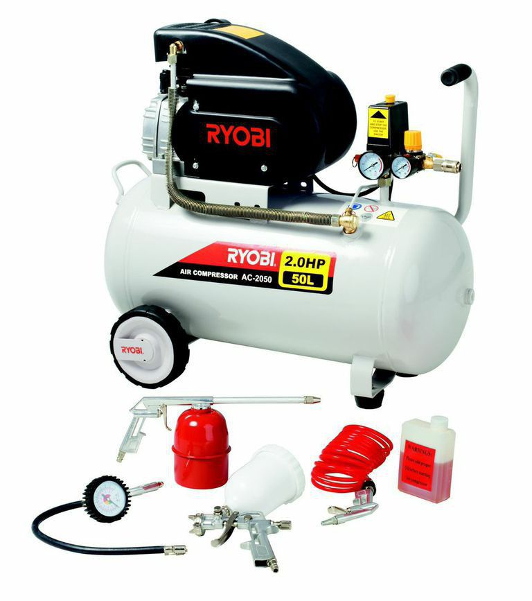 Ryobi Air Compressor With Spray Gun Kit Buy Online In