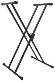On Stage KS7191 Classic Double Brace X-Style Keyboard Stand