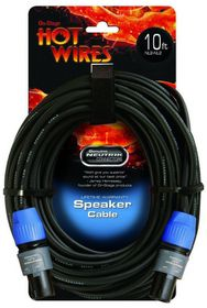 On Stage SP14-10SS Hot Wires 3 Meter Speakon Cable with Neutrik Connectors