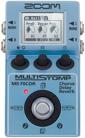 Zoom MS-70CDR Multi-Stomp Single Mult-Effects Chorus Delay - Reverb Pedal For Electric Guitar