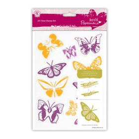 Docrafts Papermania A5 Clear Stamp Set - Butterflies