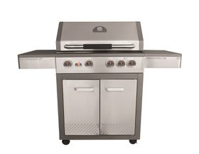 Alva - Miami Stainless Steel Hooded 4 Burner Gas Grill with Side Burner