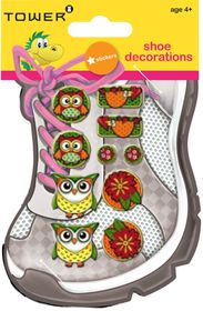 Tower Kids Shoe Decorations - Funky Owls 2