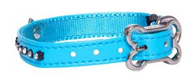 Rogz Lapz 8mm Extra Small Luna Pin Buckle Dog Collar - Blue