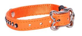 Rogz - 8mm Luna Pin Buckle Dog Collar - Orange