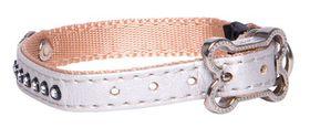 Rogz - 8mm Luna Pin Buckle Dog Collar - Ivory