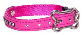 Rogz - 8mm Luna Pin Buckle Dog Collar - Pink