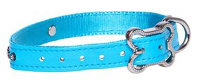 Rogz - 13mm Luna Pin Buckle Dog Collar - Blue