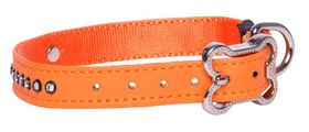 Rogz - 13mm Luna Pin Buckle Dog Collar - Orange