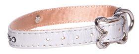 Rogz - 13mm Luna Pin Buckle Dog Collar - Ivory