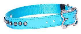 Rogz - 16mm Luna Pin Buckle Dog Collar - Blue