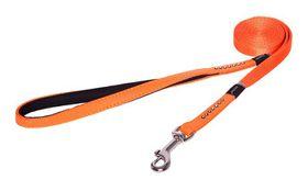 Rogz - 13mm Luna Fixed Long Dog Lead - Orange
