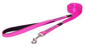 Rogz Lapz 16mm Medium Luna Fixed Long Dog Lead - Pink