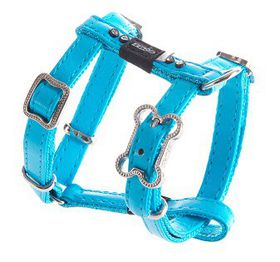 Rogz - 8mm Luna Adjustable Dog H-Harness - Blue