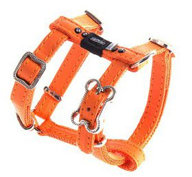 Rogz - 8mm Luna Adjustable Dog H-Harness - Orange