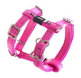 Rogz - Lapz 8mm Extra Small Luna Adjustable Dog H-Harness - Pink