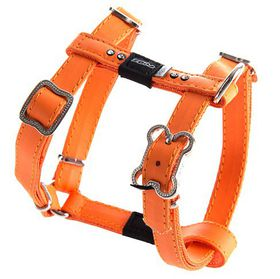 Rogz - 13mm Luna Adjustable Dog H-Harness - Orange