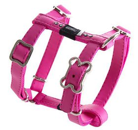 Rogz - 13mm Luna Adjustable Dog H-Harness - Pink