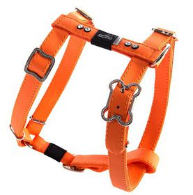 Rogz - Lapz 16mm Medium Luna Adjustable Dog H-Harness - Orange