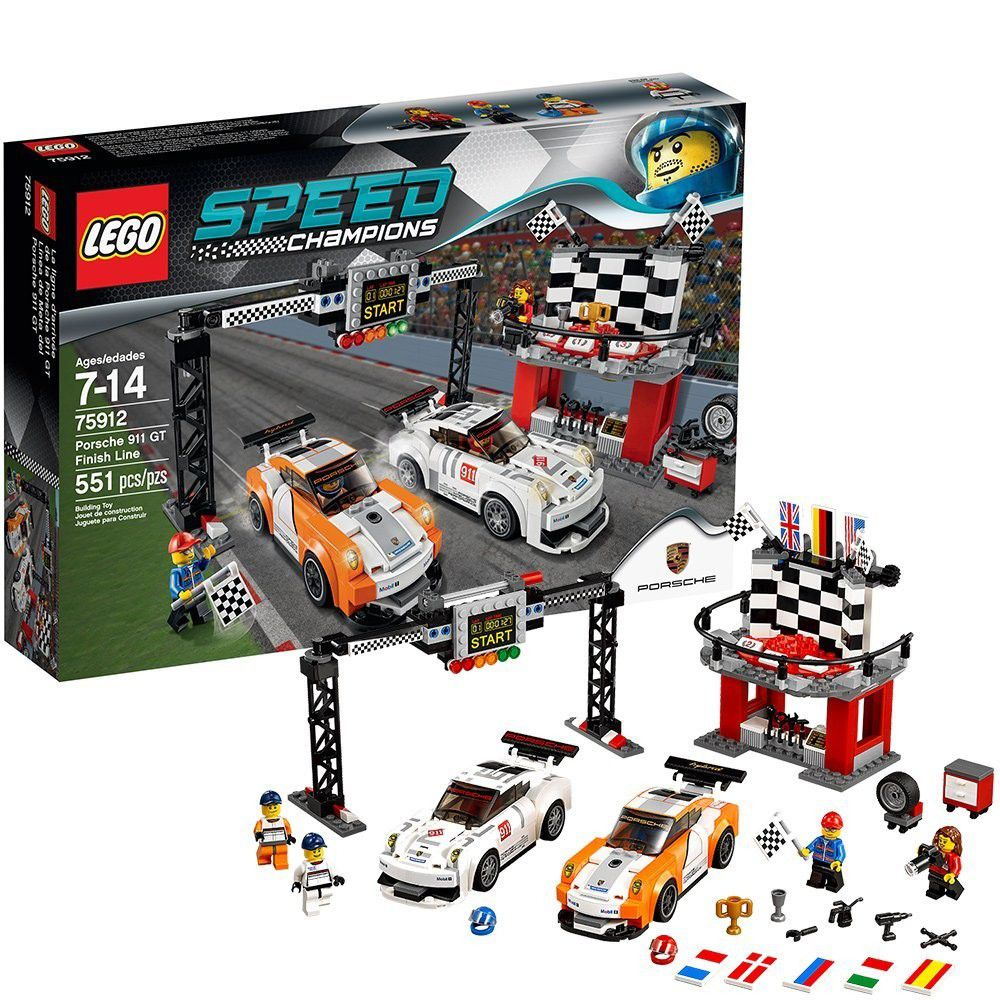 lego speed champions 75912 porsche 911 gt finish line. Black Bedroom Furniture Sets. Home Design Ideas